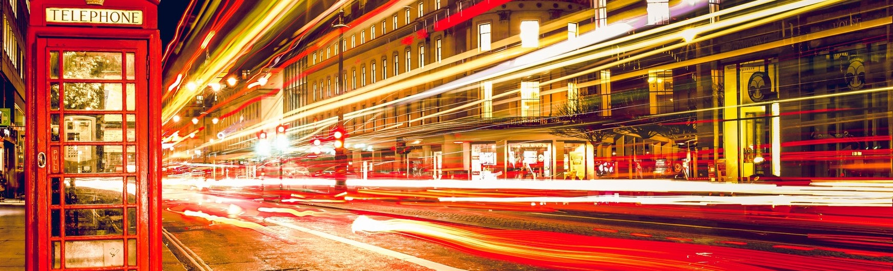 Long exposure picture of London at night